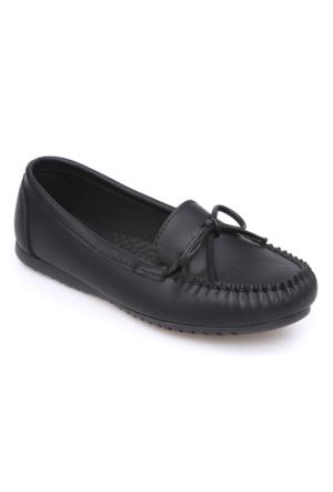 Zerrin Ayakkabı Siyah Tek İğne Kadın Babet-609991