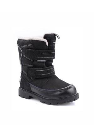 Pediped Cruz Black White Winter Bot Siyah Çocuk Sandalet
