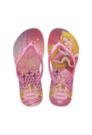 HavaianasKids Slim Princess Crystal Rose Shocking Pink Terlik Çocuk Terlik