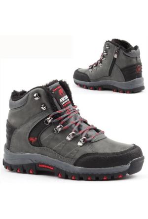 Awidox 613 İçi Termal Kürklü Fermuarlı Erkek Çocuk Bot Ayakkabı