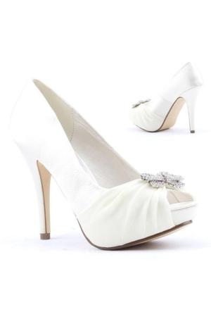 Max Style 2547 Abiye Gelin Platorm Topuk 12cm Bayan Ayakkabı