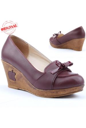 Cudo 249 Bayan Dolgu Topuk Ayakkabı 7 cm Günlük