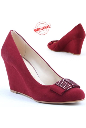 Filo Poma 308 Bayan Dolgu Topuk Ayakkabı Platform 8 cm Süet