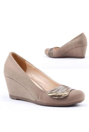 Cudo 382 Bayan Dolgu Topuk Ayakkabı 6cm Günlük Klasik Ayakkabı