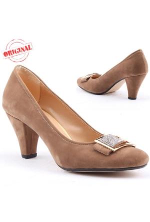 Yağmur 359 Bayan Topuklu Ayakkabı 7,5 cm Günlük Klasik