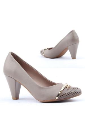 Cudo 385 Bayan Topuklu 7,5cm Ayakkabı Klasik Günlük