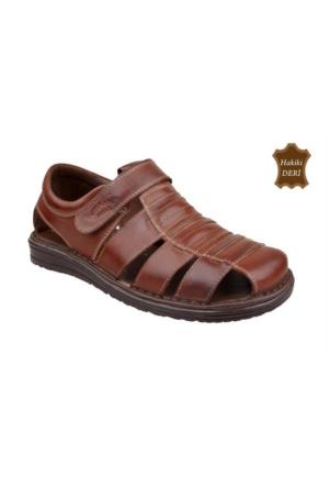 Wolfland 212 SA 31 Hakiki Deri Sandalet