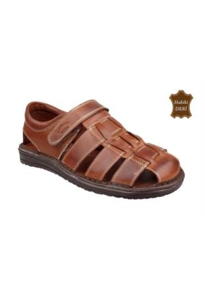 Wolfland 208 SA 01 Hakiki Deri Sandalet