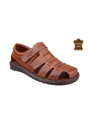 Wolfland 212 SA 01 Hakiki Deri Sandalet