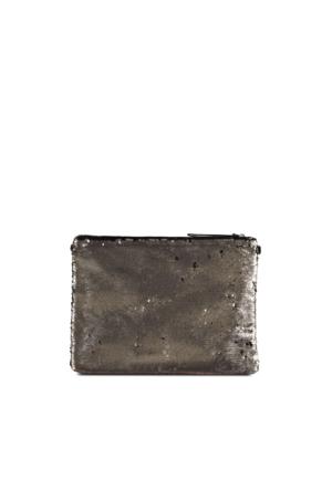 Marjin Kalef Günlük Postacı Çanta Gümüş Pul