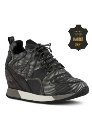 Marjin Janel Dolgu Spor Ayakkabı Siyah