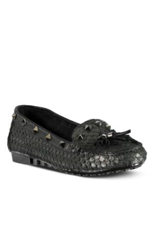 Marjin Venas Düz Loafer Ayakkabı Siyah