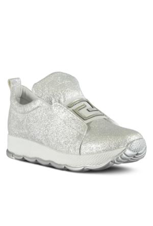 Marjin Metar Dolgu Spor Ayakkabı Gümüş
