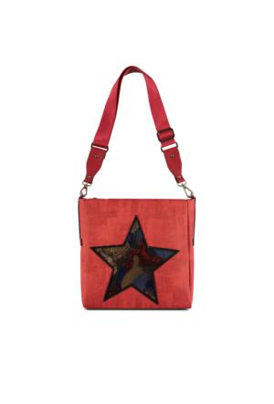 Marjin Kenla Günlük Postacı Çanta Kırmızı