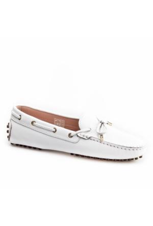 Cabani Loafer Günlük Kadın Ayakkabı Beyaz Deri