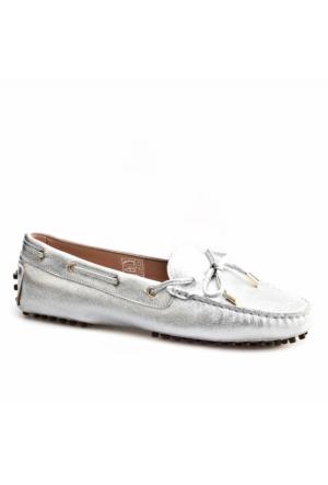 Cabani Loafer Günlük Kadın Ayakkabı Gümüş