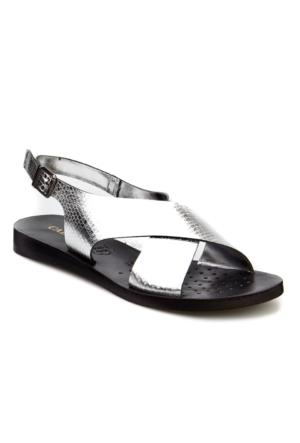 Cabani Tokalı Günlük Kadın Sandalet Gümüş