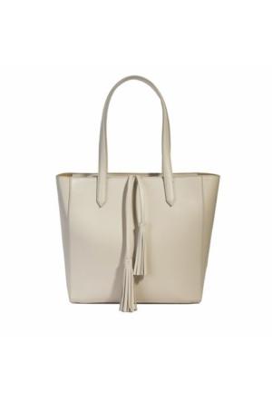 Desa Kadın Deri Alışveriş Çantası Beyaz