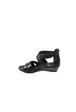 Ziya Kadın Hakiki Deri Sandalet 7131 5025 Siyah