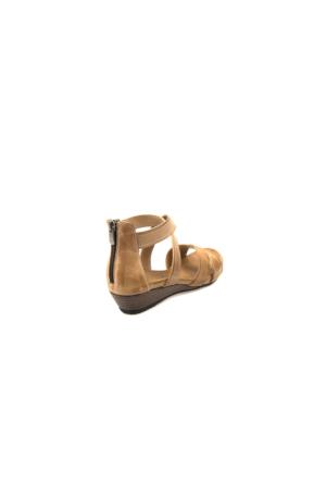 Ziya Kadın Hakiki Deri Sandalet 7131 5025 Kum