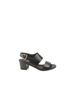 Ziya Kadın Hakiki Deri Sandalet 7131 5047 Siyah