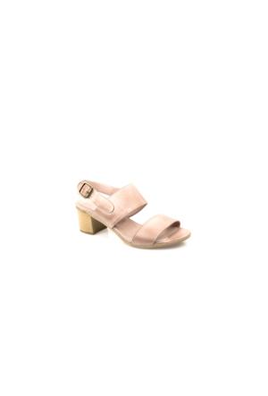 Ziya Kadın Hakiki Deri Sandalet 7131 5047 Pudra