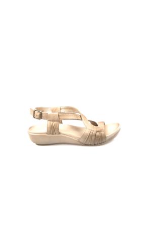 Ziya Kadın Hakiki Deri Sandalet 7176 1094 Kum