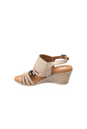 Ziya Kadın Hakiki Deri Sandalet 7176 2014 Kum