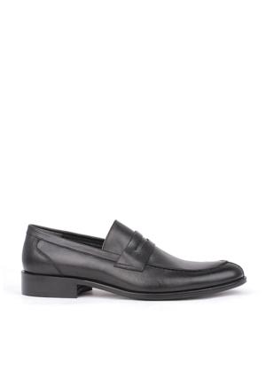 Crunell 204203 027 013 Erkek Siyah Klasik Ayakkabı