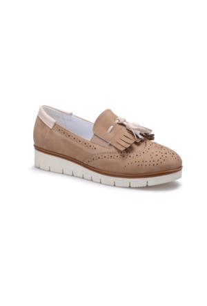 Butigo S818 Bej Kadın Loafer Ayakkabı