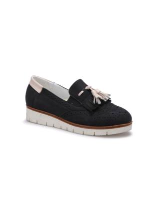 Butigo S818 Siyah Kadın Loafer Ayakkabı