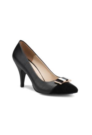 Butigo S898 Siyah Beyaz Kadın Gova Ayakkabı