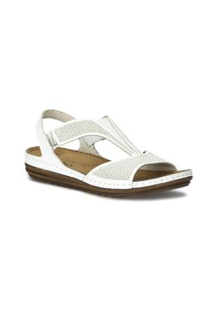 Polaris 71.157369.Z Beyaz Kadın Sandalet