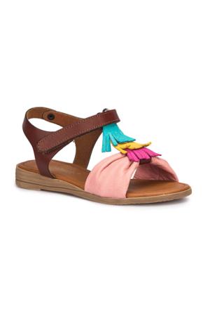 Polaris 71.509293.P Pembe Kız Çocuk Deri Sandalet