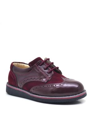 Raker Bordo Rugan Klasik Erkek Bebek Ayakkabısı