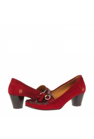 Mammamia Kadın Hakiki Deri Klasik Topuklu Ayakkabı