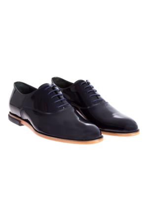Kiğılı Kösele Taban Rugan Ayakkabı Lacivert