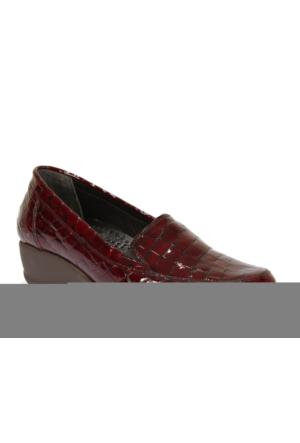 İloz 316055 Bordo Fasulye Hakiki Deri Ortopedik Kadın Ayakkabı