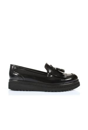 Beety 7211 Siyah Açma Püsküllü Anatomik Taban Bayan Ayakkabı