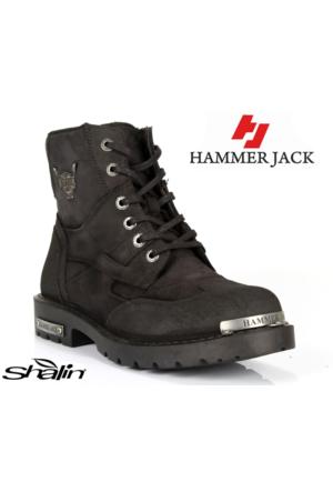 Hammer Jack 16550 Siyah Hakiki Deri Kışlık Erkek Motor Bot