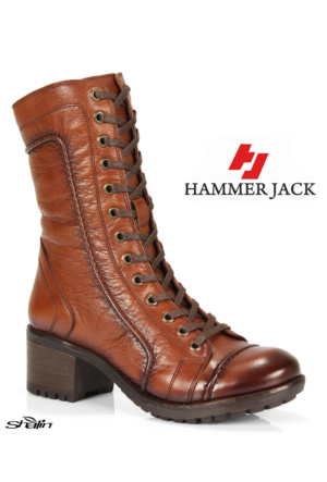 Hammer Jack 2979 Taba Bağlı Hakiki Deri Kışlık Bayan Bot