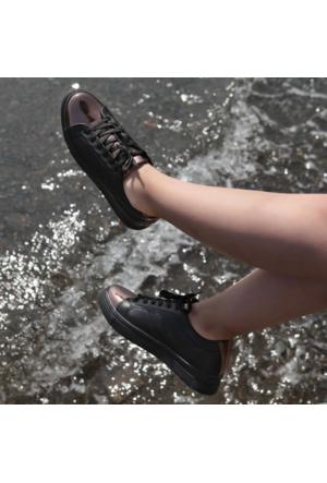 Shalin 475 Siyah Bakır Günlük Rahat Bayan Spor Ayakkabı