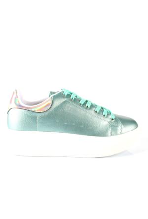 Shalin 2501 Su Yeşili Özel Tasarım Spor Bayan Ayakkabı