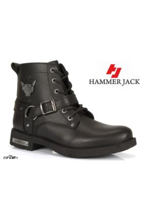 Hammer Jack Hakiki Deri 15205 Siyah Mat Erkek Bot