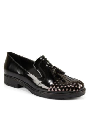 Beety 5215 Platin Püsküllü Günlük Bayan Ayakkabı
