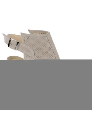 Beety Bty 621 Bej Topuklu Günlük Bayan Sandalet