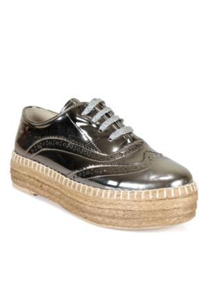 Shalin 501 Bronz Günlük Bağcıklı Bayan Ayakkabı