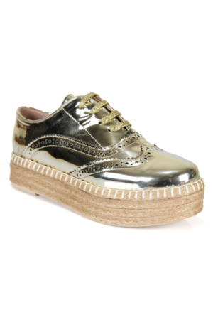 Shalin 501 Gold Günlük Bağcıklı Bayan Ayakkabı