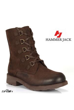 Hammer Jack 16965 Kahve Hakiki Deri Kadın Bot