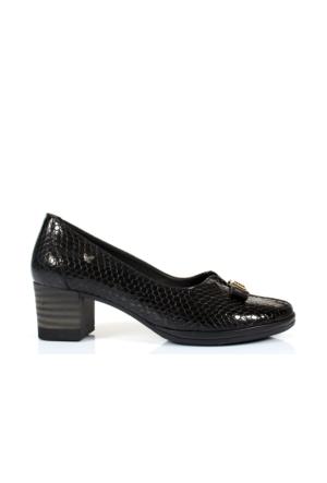 İloz 380459 Siyah Hakiki Deri Bayan Ayakkabı